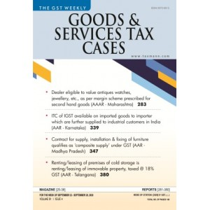 Taxmann's Good & Services Tax (GST) Cases - A Weekly Periodical Journal (Annual Subscription) 2021