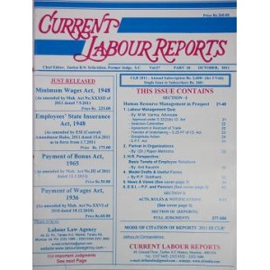 Current Labour Reports (CLR) Annual Subscription for 2020 [Regd. Post / Courier]