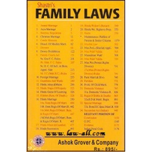 Adv. Madhav Shastri's Family Laws (Along with Case Laws) by Ashok Grover & Company