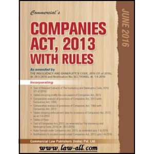Commercial's Companies Act, 2013 with Rules (HB-Pocket)