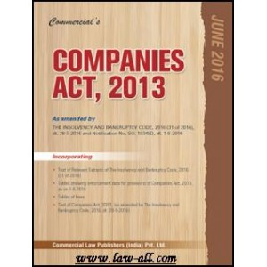 Commercial's Companies Act, 2013 (Pocket/ Paperback Edn.)