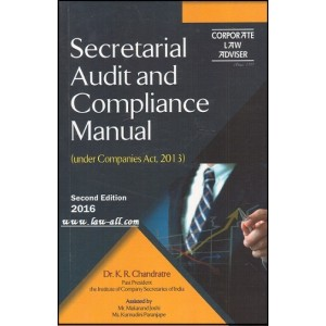 Corporate Law Adviser's Secretarial Audit and Compliance Manual by Dr. K. R. Chandratre