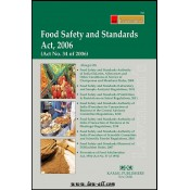 Lawmann's Food Safety and Standards Act, 2006 by Kamal Publishers