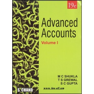 S. Chand's Advanced Accounts Volume I By M. C. Shukla for CA Inter 2018 Exam