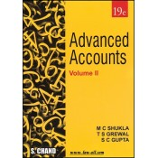 S. Chand's Advanced Accounts Volume II by M. C. Shukla for CA Inter Nov./Dec. 2018 Exam