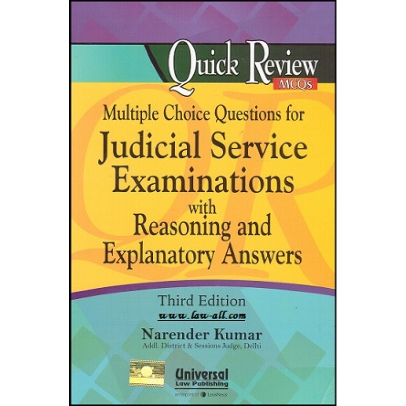 Universal's Multiple Choice Questions MCQs for Judicial Service